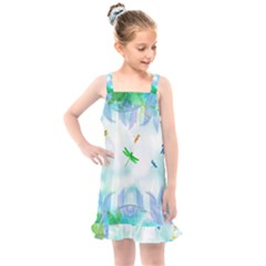 Scrapbooking Tropical Pattern Kids  Overall Dress