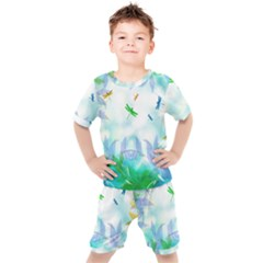 Scrapbooking Tropical Pattern Kids  Tee and Shorts Set