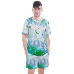 Scrapbooking Tropical Pattern Men s Mesh Tee and Shorts Set