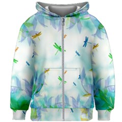 Scrapbooking Tropical Pattern Kids  Zipper Hoodie Without Drawstring