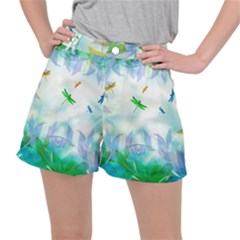 Scrapbooking Tropical Pattern Ripstop Shorts