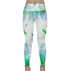 Scrapbooking Tropical Pattern Lightweight Velour Classic Yoga Leggings by HermanTelo