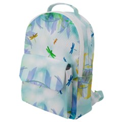 Scrapbooking Tropical Pattern Flap Pocket Backpack (Small)