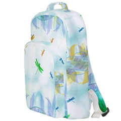 Scrapbooking Tropical Pattern Double Compartment Backpack