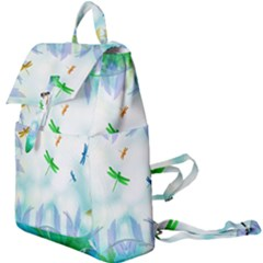 Scrapbooking Tropical Pattern Buckle Everyday Backpack