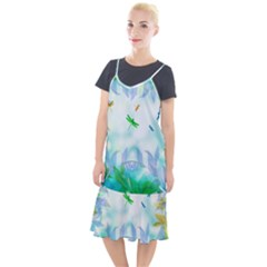 Scrapbooking Tropical Pattern Camis Fishtail Dress