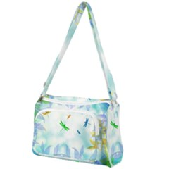 Scrapbooking Tropical Pattern Front Pocket Crossbody Bag
