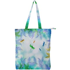 Scrapbooking Tropical Pattern Double Zip Up Tote Bag