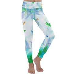 Scrapbooking Tropical Pattern Kids  Lightweight Velour Classic Yoga Leggings
