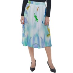Scrapbooking Tropical Pattern Classic Velour Midi Skirt