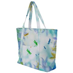 Scrapbooking Tropical Pattern Zip Up Canvas Bag