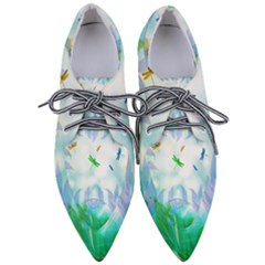 Scrapbooking Tropical Pattern Women s Pointed Oxford Shoes