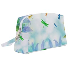 Scrapbooking Tropical Pattern Wristlet Pouch Bag (Large)