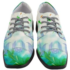 Scrapbooking Tropical Pattern Women Heeled Oxford Shoes
