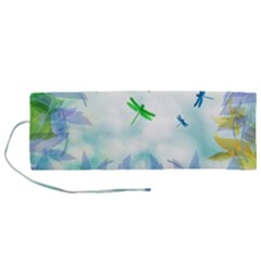 Scrapbooking Tropical Pattern Roll Up Canvas Pencil Holder (M)