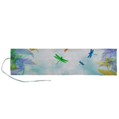 Scrapbooking Tropical Pattern Roll Up Canvas Pencil Holder (L)