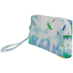 Scrapbooking Tropical Pattern Wristlet Pouch Bag (Small)
