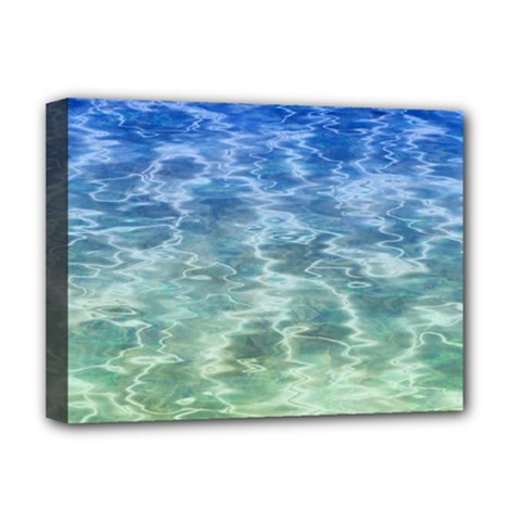 Water Blue Transparent Crystal Deluxe Canvas 16  X 12  (stretched)