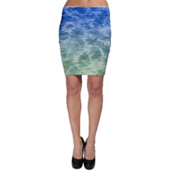 Water Blue Transparent Crystal Bodycon Skirt by HermanTelo