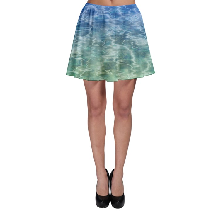 Water Blue Transparent Crystal Skater Skirt
