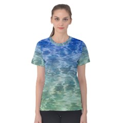 Water Blue Transparent Crystal Women s Cotton Tee by HermanTelo