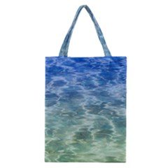 Water Blue Transparent Crystal Classic Tote Bag