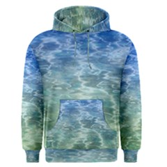 Water Blue Transparent Crystal Men s Pullover Hoodie