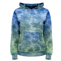 Water Blue Transparent Crystal Women s Pullover Hoodie