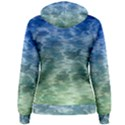 Water Blue Transparent Crystal Women s Pullover Hoodie View2