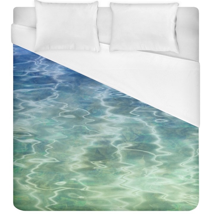 Water Blue Transparent Crystal Duvet Cover (King Size)