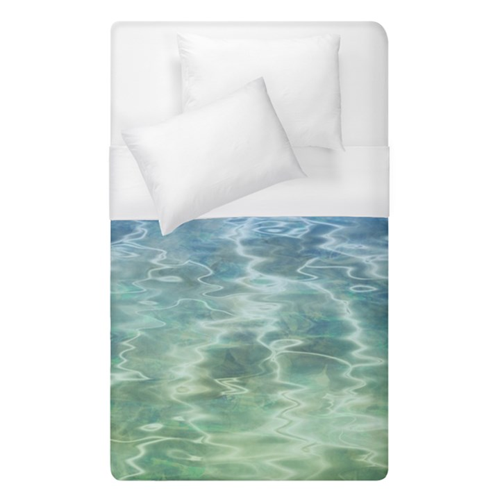 Water Blue Transparent Crystal Duvet Cover (Single Size)
