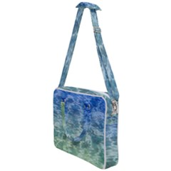 Water Blue Transparent Crystal Cross Body Office Bag by HermanTelo