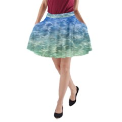 Water Blue Transparent Crystal A-line Pocket Skirt by HermanTelo