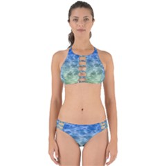 Water Blue Transparent Crystal Perfectly Cut Out Bikini Set by HermanTelo
