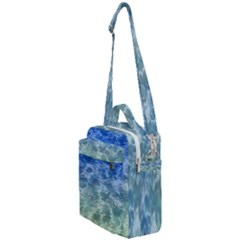 Water Blue Transparent Crystal Crossbody Day Bag by HermanTelo