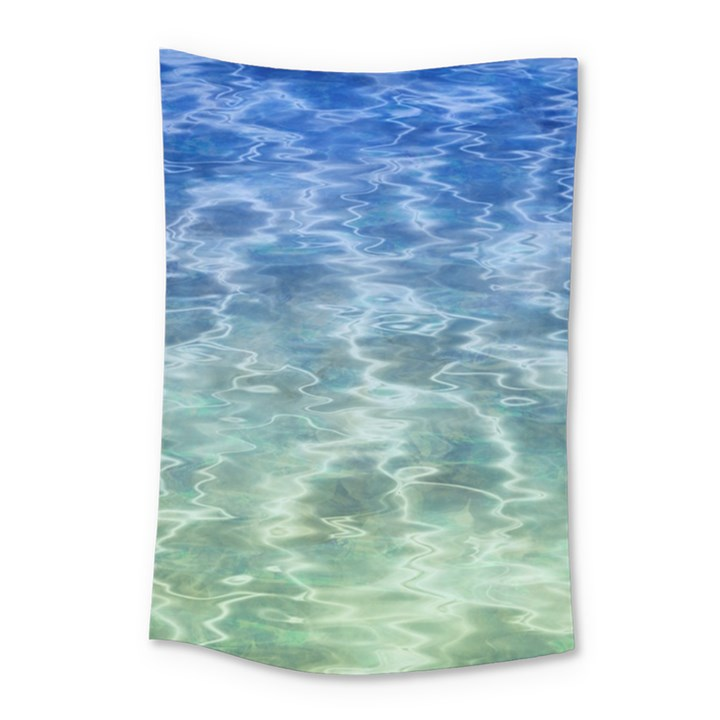 Water Blue Transparent Crystal Small Tapestry