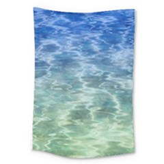 Water Blue Transparent Crystal Large Tapestry by HermanTelo