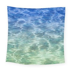 Water Blue Transparent Crystal Square Tapestry (large)