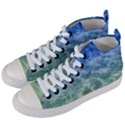 Water Blue Transparent Crystal Women s Mid-Top Canvas Sneakers View2