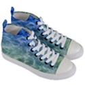 Water Blue Transparent Crystal Women s Mid-Top Canvas Sneakers View3