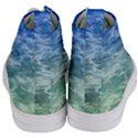 Water Blue Transparent Crystal Women s Mid-Top Canvas Sneakers View4