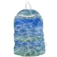 Water Blue Transparent Crystal Foldable Lightweight Backpack by HermanTelo