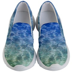 Water Blue Transparent Crystal Kids  Lightweight Slip Ons