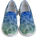 Water Blue Transparent Crystal Kids  Lightweight Slip Ons View1