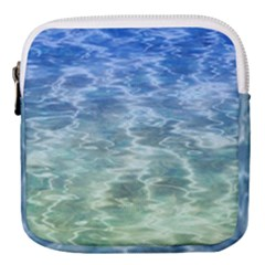 Water Blue Transparent Crystal Mini Square Pouch