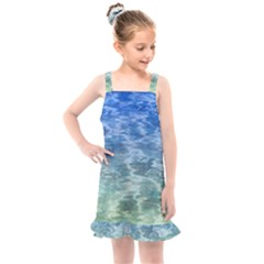 Water Blue Transparent Crystal Kids  Overall Dress by HermanTelo