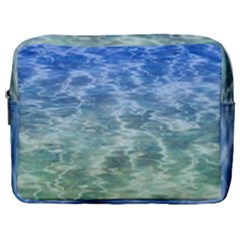Water Blue Transparent Crystal Make Up Pouch (large)