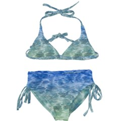 Water Blue Transparent Crystal Kids  Classic Bikini Set by HermanTelo