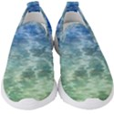 Water Blue Transparent Crystal Kids  Slip On Sneakers View1
