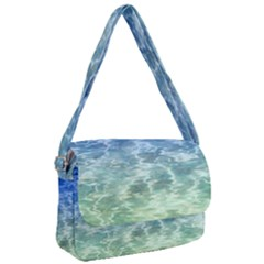 Water Blue Transparent Crystal Courier Bag
